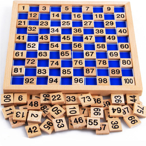wooden board Montessori math toys Montessori materials oyuncak Children's educational toys digital board abacus W078 - Hespirides Gifts