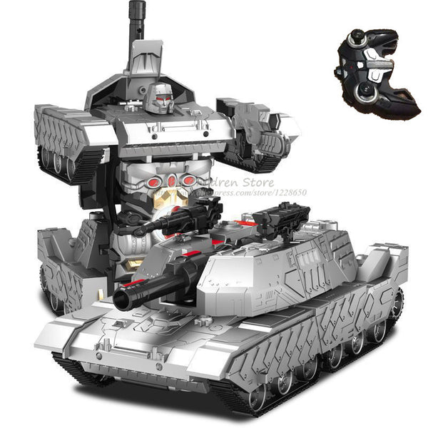 RC Transformation Robot Tank Remote Control Electric Transform Car Toy Dance Musical Model Tank Toy Boy Gift Idea - Hespirides Gifts