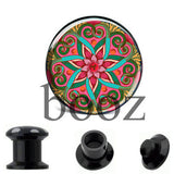 fashion black acrylic ear plugs tunnles piercing gauges stretchers ear body jewelry - Hespirides Gifts - 6