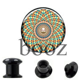 fashion black acrylic ear plugs tunnles piercing gauges stretchers ear body jewelry - Hespirides Gifts - 4