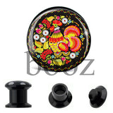 fashion black acrylic ear plugs tunnles piercing gauges stretchers ear body jewelry - Hespirides Gifts - 7