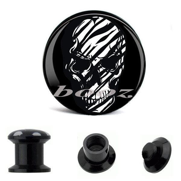 wholesale body jewellery picture piercing acrylic ear earrings plug flesh tunnel gauges AE-1073 - Hespirides Gifts - 2