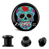wholesale body jewellery picture piercing acrylic ear earrings plug flesh tunnel gauges AE-1073 - Hespirides Gifts - 4