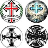 cross logo hot sell acrylic piercing body jewelry ear plug tunnels expander stretchers gauges AE-8023 - Hespirides Gifts
