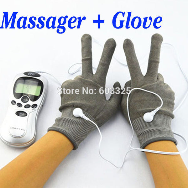 Hand Pain Relief Massager Therapy Massage Electric Digital Massager With Fiber Electrode Massage Gloves - Hespirides Gifts