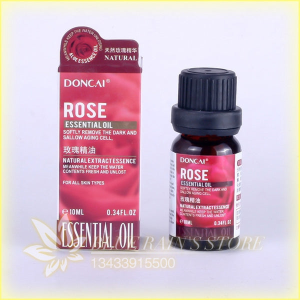 Rose essential oil, 10 ml hydrating essence carry bright color of skin moisturizing contractive pore essential oil S243A - Hespirides Gifts