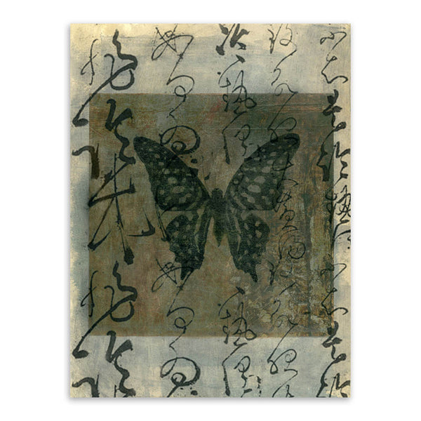 Vintage Retro Ancient Oriental Chinese Butterfly Calligraphy A4 Art Print Poster Wall Picture Canvas Painting No Frame Home Deco - Hespirides Gifts - 5