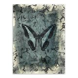 Vintage Retro Ancient Oriental Chinese Butterfly Calligraphy A4 Art Print Poster Wall Picture Canvas Painting No Frame Home Deco - Hespirides Gifts - 4