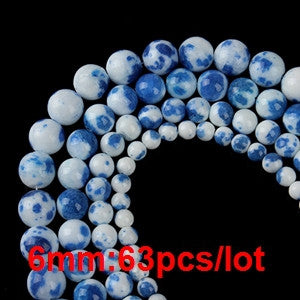 Natural Stone Cloisonne Porcelain Spacer Beads 40cm Strand 6 8 10 12mm DIY Jewelry Findings F2148 - Hespirides Gifts - 6