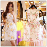 Fashion Beautiful flower Summer Dress Light yellow/Pink/Light purple Floral Embroidery Organza lace Fabric Customized - Hespirides Gifts - 1