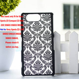 "Luxury Hard Case for Sony Z3 Compact Z3 Mini Z3C D5803 D5833 M55W 4.6"" Case Palace Paper Cut Flower Plastic Clear Retro Case - Hespirides Gifts - 3"