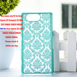 "Luxury Hard Case for Sony Z3 Compact Z3 Mini Z3C D5803 D5833 M55W 4.6"" Case Palace Paper Cut Flower Plastic Clear Retro Case - Hespirides Gifts - 6"
