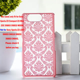 "Luxury Hard Case for Sony Z3 Compact Z3 Mini Z3C D5803 D5833 M55W 4.6"" Case Palace Paper Cut Flower Plastic Clear Retro Case - Hespirides Gifts - 4"