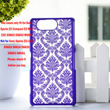 "Luxury Hard Case for Sony Z3 Compact Z3 Mini Z3C D5803 D5833 M55W 4.6"" Case Palace Paper Cut Flower Plastic Clear Retro Case - Hespirides Gifts - 7"