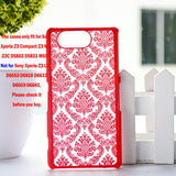 "Luxury Hard Case for Sony Z3 Compact Z3 Mini Z3C D5803 D5833 M55W 4.6"" Case Palace Paper Cut Flower Plastic Clear Retro Case - Hespirides Gifts - 5"
