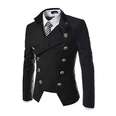 M - XXL New Men's Personality Suit Autumn and Winter Occident Double-breasted Suit Slim Casual Business Suit for Adult CS151272 - Hespirides Gifts - 2