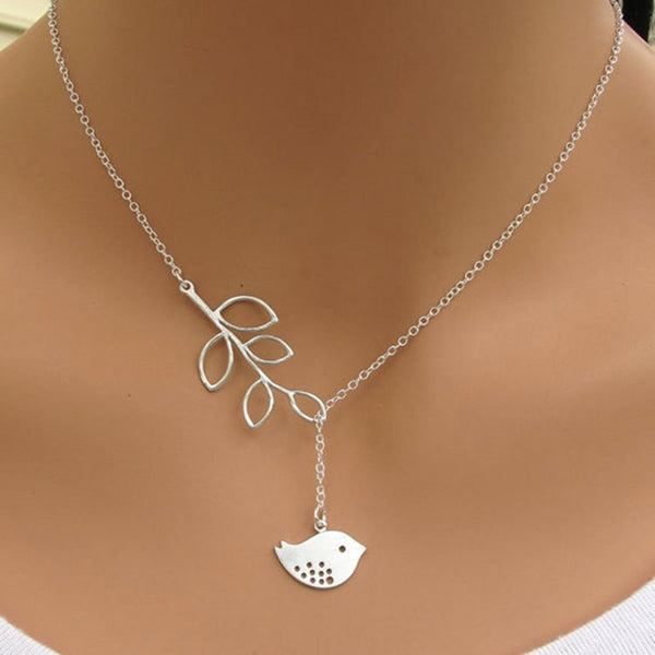 hot sale cheap cross pendant necklace and stylish alloy leaf bird clavicle chain wholesale - Hespirides Gifts - 3