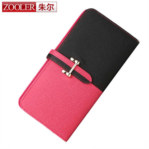 ZOOLER genuine leather wallets elegant for lady women leather wallet lady purse stylish purses long,famous brand - Hespirides Gifts