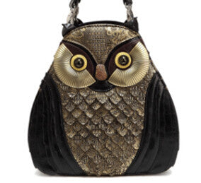 Different Individual Stylish Personality Shoulder Hand Bag + Unique Owl Bird Animal Bags Shape Fashion Crossbody - Hespirides Gifts - 3