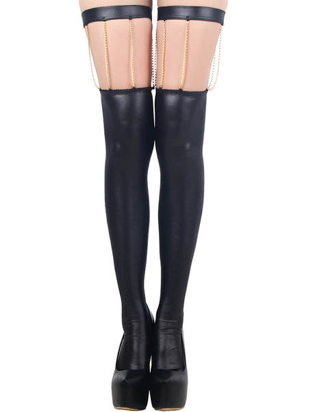 R80057 Unique style new stockings for women fashion black thigh high socks show your nice leg stockings - Hespirides Gifts - 2