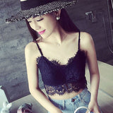 Summer lady all-match bottoming vest backless short Anti exposure Lash lace braces vest #JS0772 - Hespirides Gifts - 1