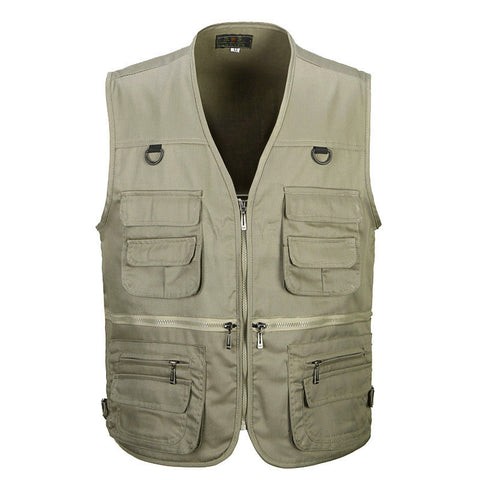 Summer Men's Photographer Vest Multi-Pockets Cheap Vests Outdoor Shooting Hunting Waistcoat Vest Walking Travel Vest L-3XL - Hespirides Gifts - 1