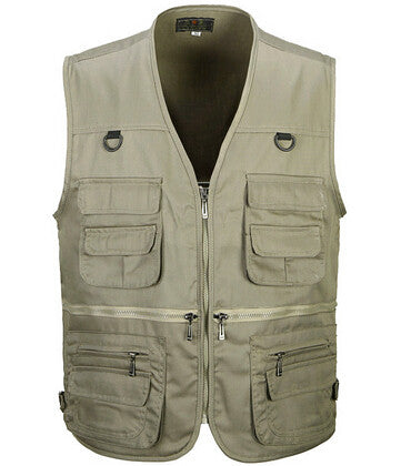 Summer Men's Photographer Vest Multi-Pockets Cheap Vests Outdoor Shooting Hunting Waistcoat Vest Walking Travel Vest L-3XL - Hespirides Gifts - 2