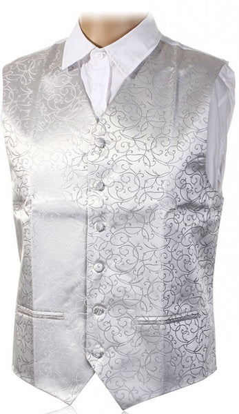 "New Mens Top Swirl Wedding Waistcoat Chest Available S-5XL UK Size 36""-50"" - Hespirides Gifts - 5"
