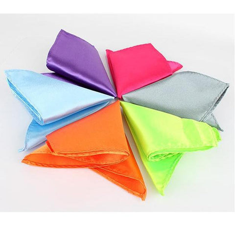 solid color Pocket square towel Handkerchiefs hanky - Hespirides Gifts - 1