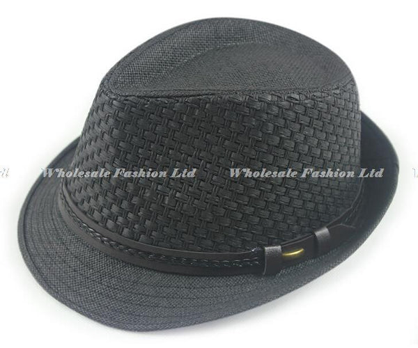 Wholesale 10pcs/Lot Quality Mens Solid Paper Fedoras Hats Womens Spring Fedoras Caps Men Summer Sun Straw Cap Womens Straw Hat - Hespirides Gifts - 5
