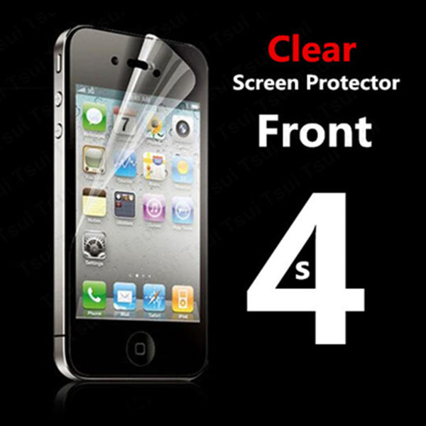 Front Full body Transparent Clear LCD HD Screen Protector Film for Apple iPhone 4 4S 4G Protective Film with Cloth - Hespirides Gifts