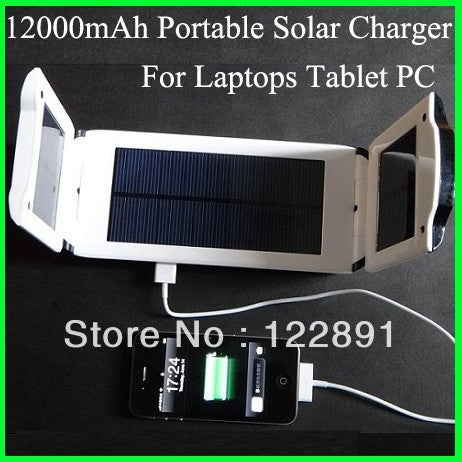 HOT!Foldable Laptop Solar Charger 12000mAh Mobile Power Bank for Notebooks eBooks Tablet PC Laptops Mobile Phones - Hespirides Gifts