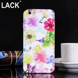 Cute Cartoon Floral Style Case Cover For iPhone 6 Case For iphone 6S Plus 6Plus 6+ Phone Cases Colorful Watercolor Flowers Capa - Hespirides Gifts - 2