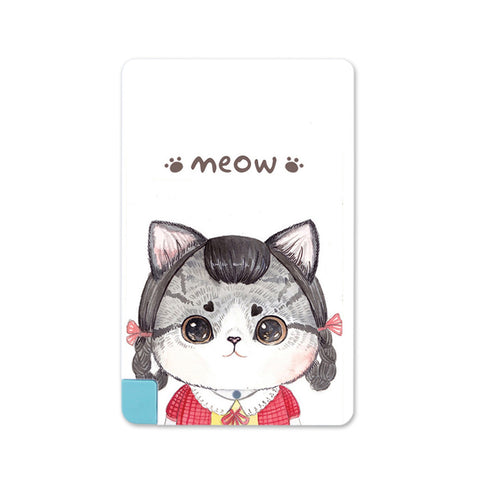 2016 new DIY big eye Cat Pattern 2600mAh Card Power Bank For iPhone/Android Portable - Hespirides Gifts