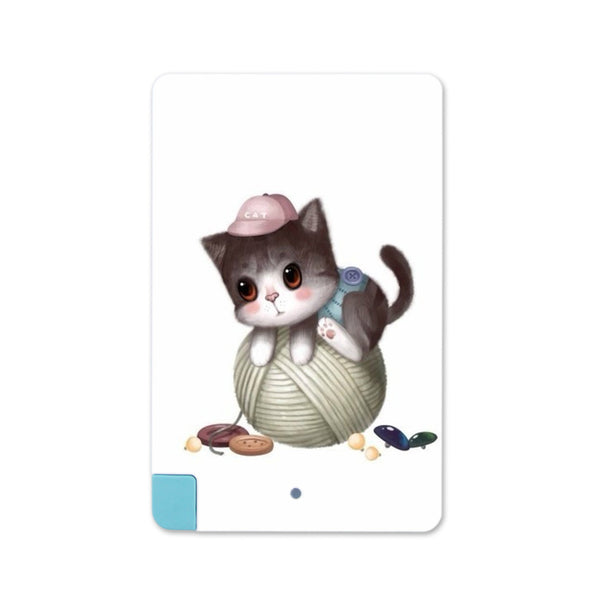 cup Cat patterns 2600mAh Card Power Bank Charger For iPhone 5/6 For Samsung Portable - Hespirides Gifts