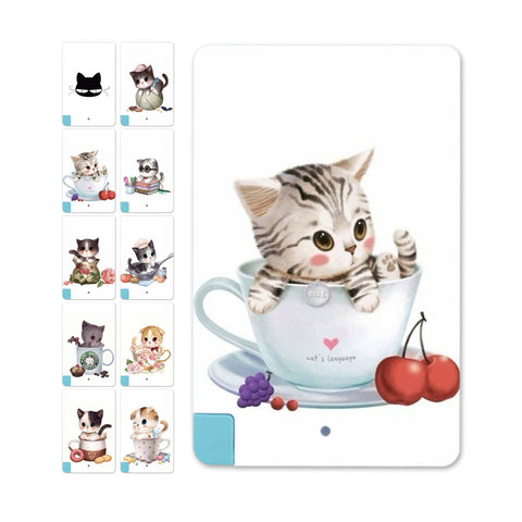 New listing Charming Little Cat Credit 5600mAh Card Power Bank External Battery Charger For iPhone for Samsung - Hespirides Gifts