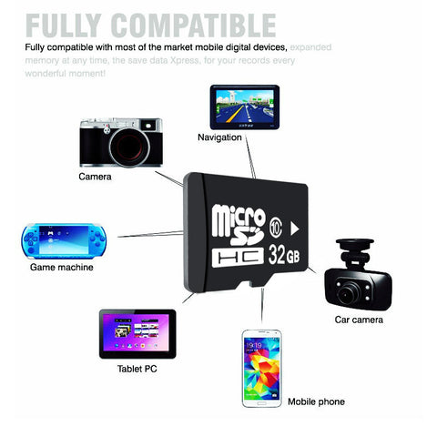 New Memory Card Real Capacity Micro SD Card 64GB 32GB 16GB 8GB Microsd Micro SD Card Class 10 - Hespirides Gifts