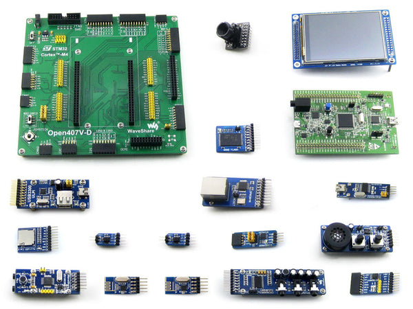 STM32 Board STM32F4DISCOVERY STM32F407VGT6 STM32F407 STM32 ARM Cortex-M4 Development Board +15 Modules Kit =Open407V-D Package B - Hespirides Gifts