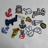 hot sale 16 kind of style select hot melt adhesive applique embroidery patch DIY clothing accessory patch 1pcs sell - Hespirides Gifts - 1