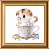 New Arrival! 3d Diamond Painting Animals Icon Embroidery Mosaic Handmade Set Of Cartoon For Home Decoration Cat DW190 - Hespirides Gifts - 7