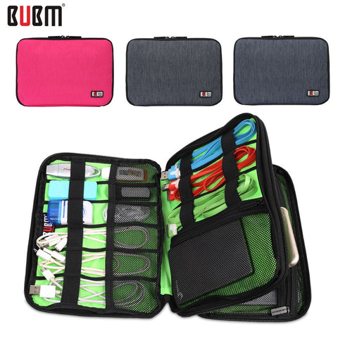 Waterproof Double Layer BUBM Travel Wire Storage Bag Electronic Accessories Tool Pouch Organizer Hard Drive Pen Data Cable Bag - Hespirides Gifts