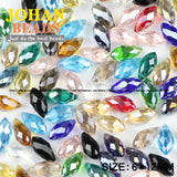 Briolette Pendant Waterdrop Austrian crystal beads 6*12mm 50pcs Top quality Teardrop glass beads for jewelry making bracelet DIY - Hespirides Gifts - 1