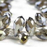 Briolette Pendant Waterdrop Austrian crystal beads 6*12mm 50pcs Top quality Teardrop glass beads for jewelry making bracelet DIY - Hespirides Gifts - 4