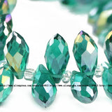 Briolette Pendant Waterdrop Austrian crystal beads 6*12mm 50pcs Top quality Teardrop glass beads for jewelry making bracelet DIY - Hespirides Gifts - 16