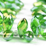Briolette Pendant Waterdrop Austrian crystal beads 6*12mm 50pcs Top quality Teardrop glass beads for jewelry making bracelet DIY - Hespirides Gifts - 7