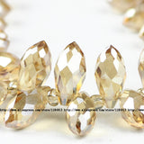 Briolette Pendant Waterdrop Austrian crystal beads 6*12mm 50pcs Top quality Teardrop glass beads for jewelry making bracelet DIY - Hespirides Gifts - 19