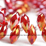 Briolette Pendant Waterdrop Austrian crystal beads 6*12mm 50pcs Top quality Teardrop glass beads for jewelry making bracelet DIY - Hespirides Gifts - 12