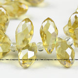 Briolette Pendant Waterdrop Austrian crystal beads 6*12mm 50pcs Top quality Teardrop glass beads for jewelry making bracelet DIY - Hespirides Gifts - 3