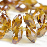 Briolette Pendant Waterdrop Austrian crystal beads 6*12mm 50pcs Top quality Teardrop glass beads for jewelry making bracelet DIY - Hespirides Gifts - 6