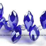 Briolette Pendant Waterdrop Austrian crystal beads 6*12mm 50pcs Top quality Teardrop glass beads for jewelry making bracelet DIY - Hespirides Gifts - 14
